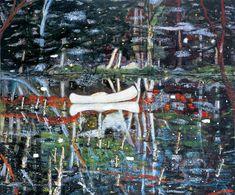 White Canoe, 1991 - Peter Doig (British, b. 1959) Magic Realism