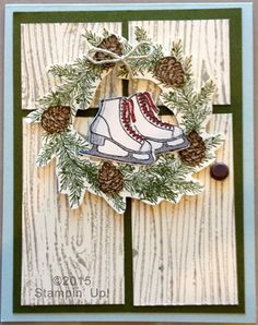 Stampin' Up! Christmas Cards - Winter Wishes stamp set and Woodgrain Embossing…