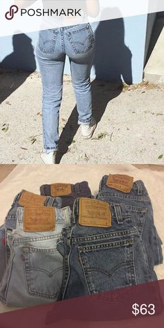 Levi jeans Boyfriend jeans , I have 6 pairs of you want all please let me know tapered / skinny fit 22-26 waist Levi's Pants Skinny