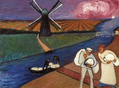 Marianne von Werefkin (Russian-Swiss 1860–1938) [Expressionism] Styx.