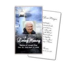 A Customizable Funeral Prayer Card Template Created By The Funeral
