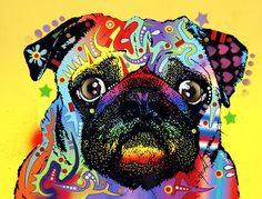 Pug Painting by Dean Russo - Pug Fine Art Prints and Posters for Sale