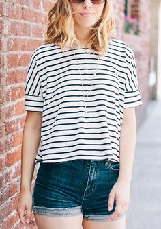 Accent your favorite striped top with little trinkets and accessories//