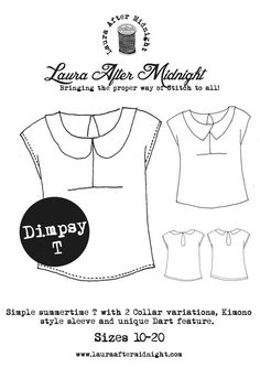 The Dimpsy T | T-shirt Sewing Dressmaking Pattern