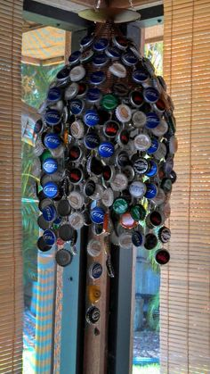 Beer caps wind chime