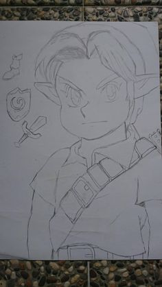 The first drawing I made of OoT Link back in 2012 with reference from the official art Visit blazezelda.tumblr.com