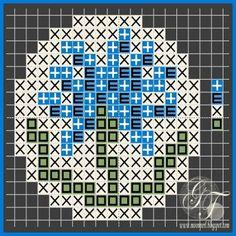 Схемы: Схема вышивки Египетский василек