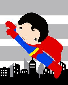Superman wall art prints superhero wall art print 8x10 inch