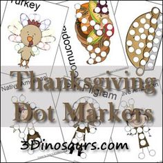 Free Thanksgiving Dot Marker Pages - 21 pages - My kids love Dotters! Thanksgiving Preschool, Thanksgiving Worksheets, Thanksgiving Games, Holiday Activities, Craft Activities, Fall Crafts, Crafts For Kids, Do A Dot, Business For Kids