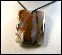 Rectangular Candy Agate Designer Focal Bead by GemsoftheNorthwest