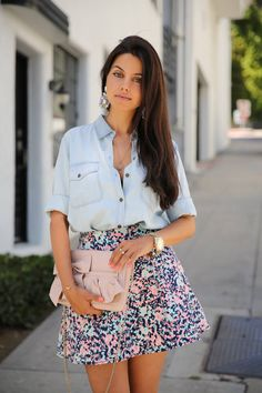 Summer Sweet ( Bleached Denim Shirts & Blouses & Leather Shoulder ) with Annabelle Fleur