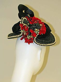 (3/3) Hat Date: ca. 1890 Culture: American Medium: silk, feathers Dimensions: [no dimensions available