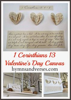 Hymns and Verses: 1 Corinthians 13 Valentine's Day Canvas