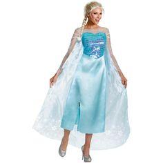 Frozen Elsa Adult Deluxe 4-6