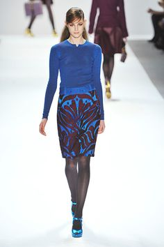 Nanette Lepore - That blue and maroon combo is electrifying just looking at the combination in a photo, so I bet it would be amazing to see in person. Or wear. Whichever.