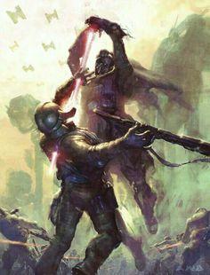 Star Wars - Vader on the Attack