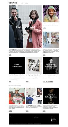 KDS Newsletters Design Board by SSENSE / Find us in www.kds.com.ar or Facebook/KDSARG and Twitter/KDSARG / Tags: #newsletter #design #inspiration