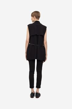 COTTON VEST Shorthaired model wearing a black cotton vest with black sneakers. Design: Lucie Kutálková / LEEDA Cotton Vest, Black Sneakers, Black Cotton, Normcore, Grey, How To Wear, Collection, Style, Fashion
