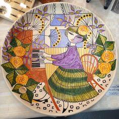 Kupittaan Savi Porcelain Ceramics, Ceramic Plates, Ceramic Pottery, Ceramic Artists, Ceramic Painting, Painted Plates, Ceramic Design, Happy Colors, Decoration