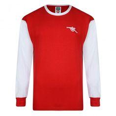 Arsenal 1971 LS shirt Arsenal Kit, Arsenal Jersey, Arsenal Football, Retro Football, Football Shirts, Red Shirt, Sports Logo, Old Boys, Premier League