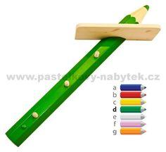 Dřevěný věšák s poličkou | Dětský dřevěný nábytek - BOB nábytek