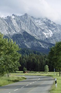 * The Zugspitze in Garmisch, Germany's highest mountain