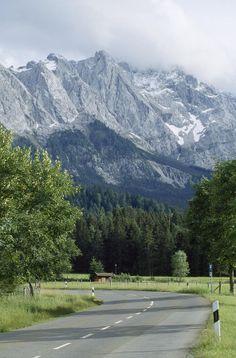 * The Zugspitze in Garmisch, Germany's highest mountain