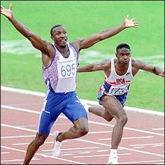 A classic race. Linford Christie - Athletics, Barcelona 1992 100m