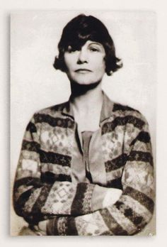 young coco chanel..<3ed colorful tops & jackets in patterns unique for the early 1900's.