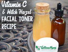 Vitamin C and Witch Hazel Facial Toner Recipe