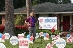 40 Rocks!  #birthday #idea #40