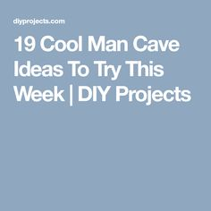 19 Cool Man Cave Ideas To Try This Week | DIY Projects