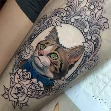 Image result for old school cat tattoos