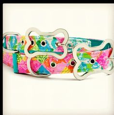 Lilly Pulitzer Dog Collar Catch the Wave Blue Dog Collar Pink Dog Collar for Girl Boy