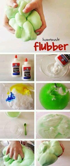 Home made flubber!