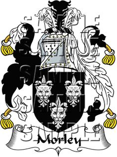 Morley Family Crest apparel, Morley Coat of Arms gifts