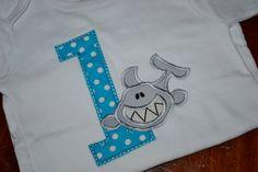 Boys Shark Birthday Shirt by SpoiledSweetkids on Etsy, $20.00