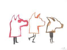 Three Dog Chorus. 2007. Ewan Atkinson The Neighbourhood, Contemporary Art, Moose Art, Dogs, Projects, Animals, Log Projects, The Neighborhood, Blue Prints