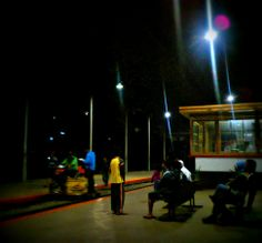 night at the #train station