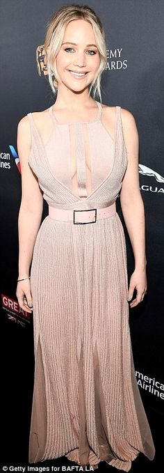 "Look pretty in pink like Jennifer in Elie Saab  Click ""Visit"" to buy #DailyMail"