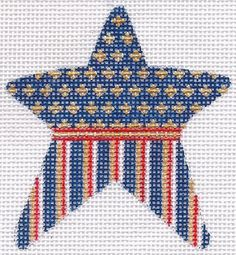 American Star 5 Hand Painted Needlepoint Canvas | eBay