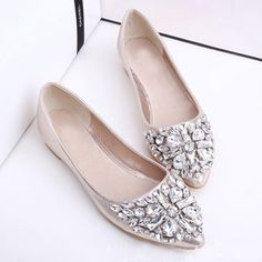 DESCRIPTION sku: 36B740716DA8 Color: Pink*gold*silver Size: US5 US5.5 US6 US7 US8 US8.5 Heel_height: Flat Occasion: Date*office Outsole_material: Rubber Package_included: 1 * Pair Of Shoes Pattern_type: Plain Season: Autumn*spring Style: Elegant Toe: Point Toe Upper_material: Pu Size Chart All dimensions are