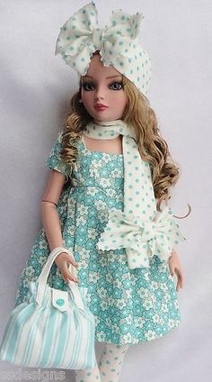 Very Sweet outfit for adult doll Ellowyne Wilde. SSDesigns Outfit is just stunningly gorgeous!