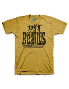 Look what I found on Sand The Beatles 'Hold Your Hand' Tri-Blend Tee - Men's Regular Lyric Shirts, Band Shirts, Tee Shirts, Band Merch, Beatles Shirt, The Beatles, Fendi, Vintage Band Tees, Thrift Fashion