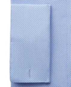 Alfani Men's Classic/Regular Fit Performance Stretch Easy Care Twill French Cuff Dress Shirt, Only at Macy's - Blue 17-17 1/2 32-33