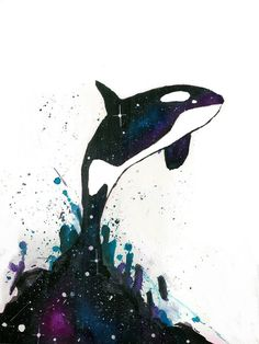 """Orca Jump! ❤ """"Catch me if you can!"""" LOL ~ Art by justcallmemike on deviantART ❤ ❤"""