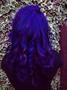Lovely amethyst hair-color with blue and magenta accent hair by: Amy Riley Bickford