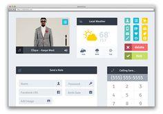 12 Free Flat CSS & PSD UI Kits | Cool Graphic & Web Design Blog