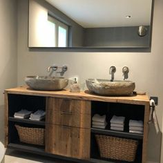 Double Vanity, Woodworking Projects, Sweet Home, New Homes, Rondom, Furniture, Bathrooms, Home Decor, Ideas