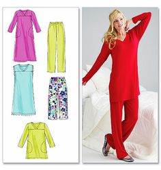 Misses Pajama Pattern Easy Pullover Nightgown Pattern by blue510